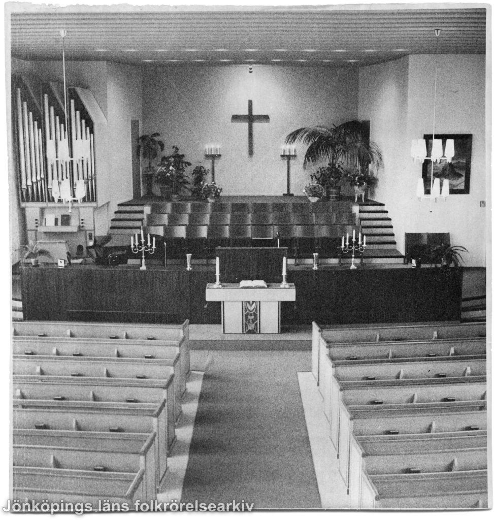 Interörbild av kyrka.