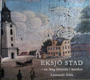 Bokomslag framsida. Målning av gammal stad.